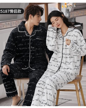 Autumn and winter homewear winter pajamas a set for men