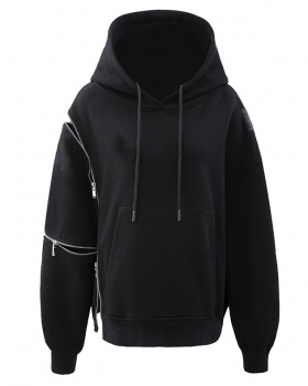 Hooded zip autumn and winter long sleeve hoodie for women