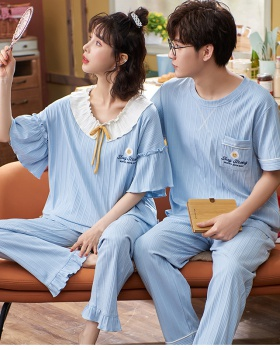 Cotton Casual pajamas homewear long pants a set for men