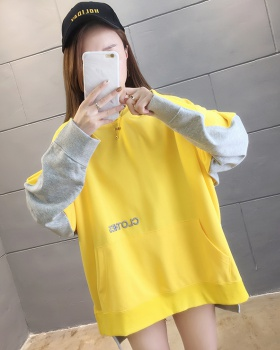 Spring letters embroidery long sleeve hoodie for women