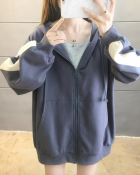 Loose thin coat large yard spring hoodie for women