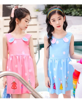 Conjoined spa girl swimwear child lovely straight hair