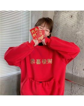 High collar Pseudo-two hoodie complex coat