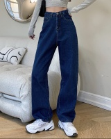 All-match wide leg jeans Korean style long pants