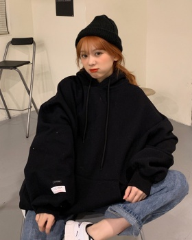 Hooded candy colors hoodie Korean style coat for women
