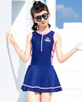 Girl conjoined swimwear small sports Casual skirt