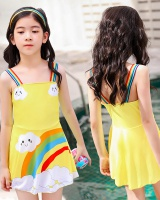 Girl spa swimwear cartoon child skirt for women