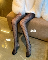 Grid diamond fishing net stockings thin black tights