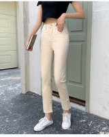 Fashion high waist jeans rivet pants for women