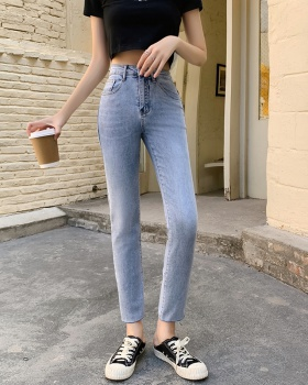 Personality small straight pants spring elasticity jeans