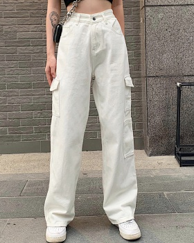 Loose summer many pocket sexy jeans for women