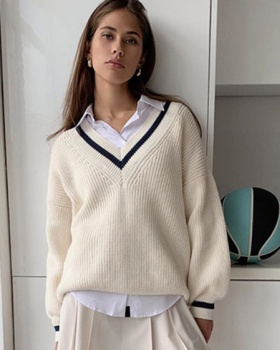 Knitted long sleeve pure Casual sweater