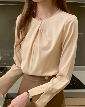 Chiffon Casual tops round neck spring shirt for women