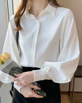 Long sleeve white business suit spring shirt for women