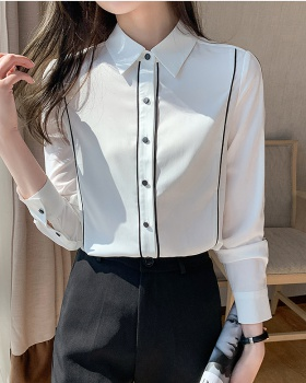 Long sleeve bottoming shirt spring tops for women