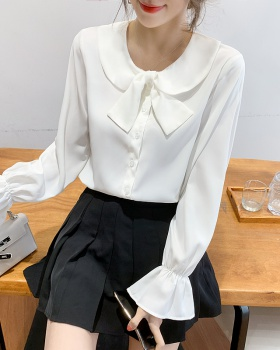 Puff sleeve doll collar tops Korean style shirt for women