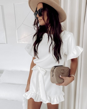 Short sleeve at home Casual European style dress