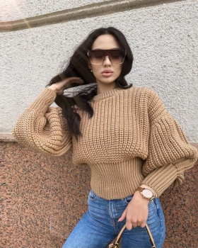 Loose pure thick needle autumn and winter sweater for women