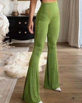 Sexy fashion Casual long pants temperament retro flare pants