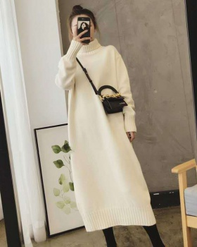 Loose overcoat autumn and winter sweater dress for women