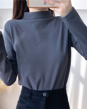Autumn and winter tops Western style bottoming shirt