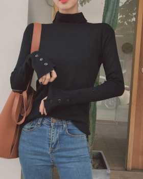 High collar short sweater close-fitting tops