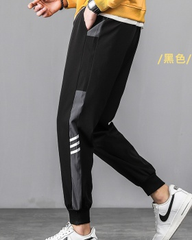Elastic band thermal casual pants thick winter sweatpants for men