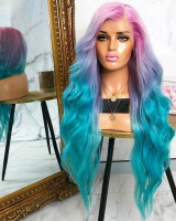Dyeing pear volume wig long headgear for women