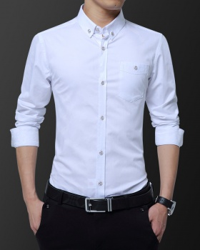 Casual fashion long sleeve Korean style shirt for men