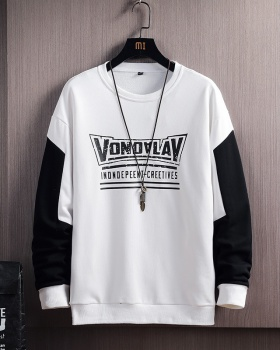 Pullover long sleeve hoodie student loose T-shirt for men