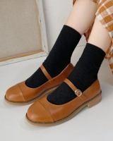 Large yard autumn small leather shoes low Korean style shoes