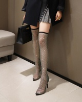 Rubber sole summer boots high-heeled shoes