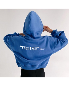 Printing short hooded fashion letters all-match hoodie