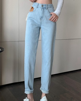 Fashion Korean style slim summer all-match jeans for women