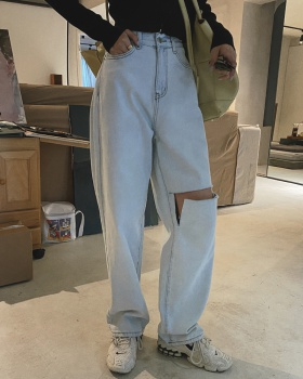 All-match wide leg pants spring and summer pants for women