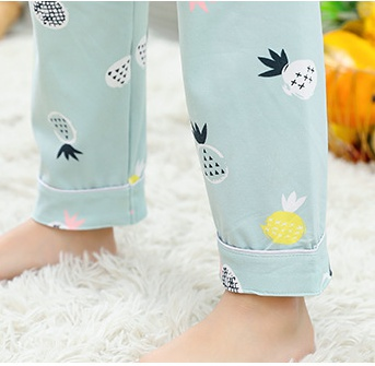Thin summer baby girl pajamas a set for women