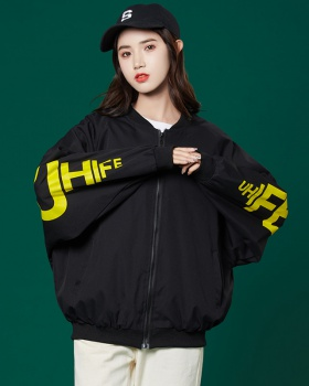 Locomotive coat Korean style baseball uniforms for women