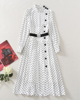 Temperament spring dress fashion crimp long dress