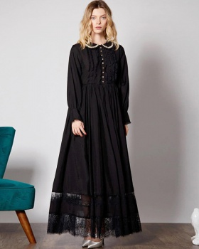 Autumn and winter long dress long overcoat for women