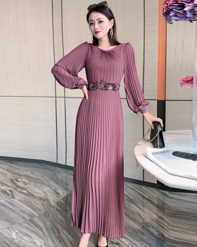 Spring long sleeve dress slim long dress for women