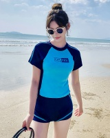 Sports slim Casual small chest Korean style gather swimwear