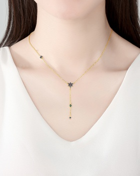 Fashion long necklace Japanese style jade for women