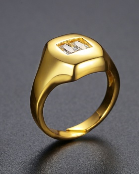 Punk style personality geometry fashion ring