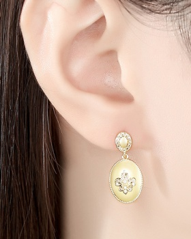 Personality earrings inlay zircon stud earrings for women