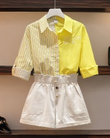 Fat sister fashion and elegant large yard shorts 2pcs set for women