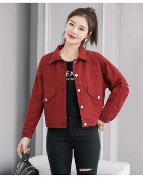 Spring and autumn work clothing embroidery tops for women