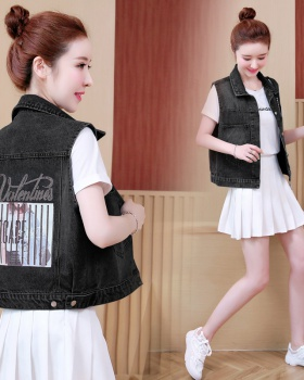 Rhinestone waistcoat spring and autumn tops for women