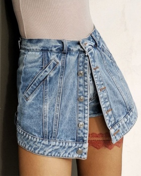 Spring splice shorts straight culottes for women