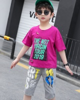 Big child baby boy Western style T-shirt 2pcs set