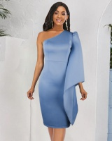 Sexy large yard strapless slim dress for women